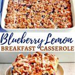gluten-free blueberry lemon breakfast casserole Pinterest pin 1A