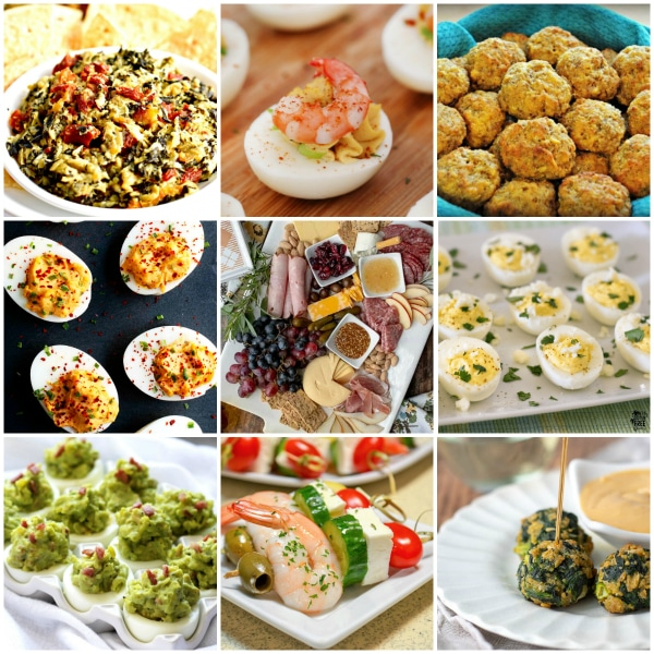 gluten-free Easter appetizer recipes photo collage 4