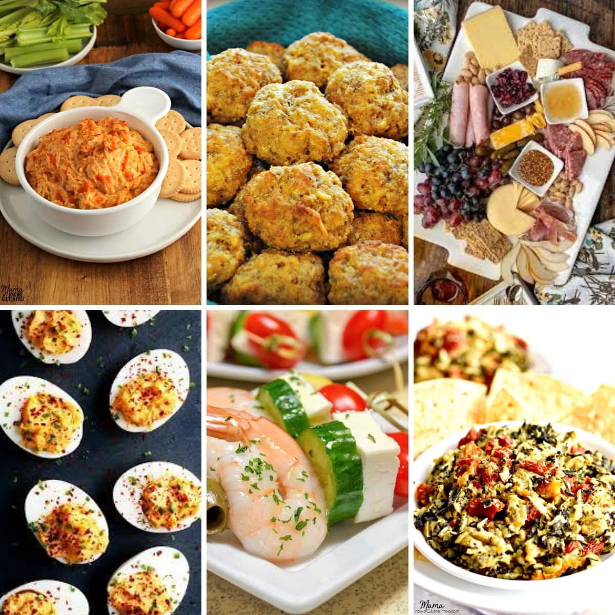 gluten-free Easter appetizer recipes photo collage
