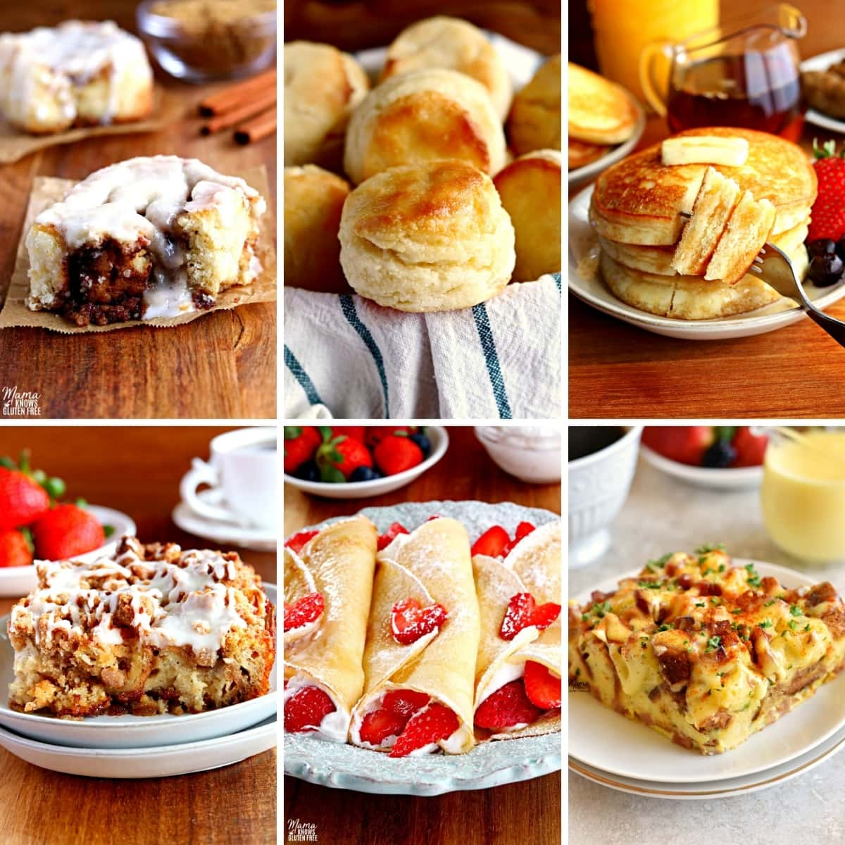 gluten-free Easter breakfast recipes photo collage