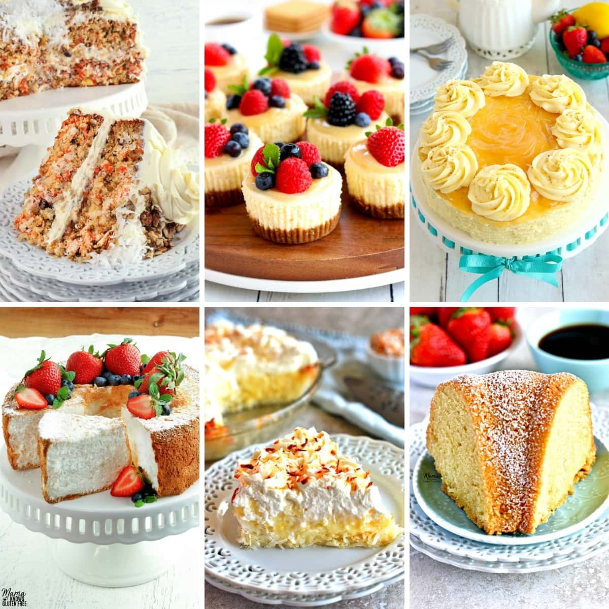 gluten-free Easter dessert recipes photo collage