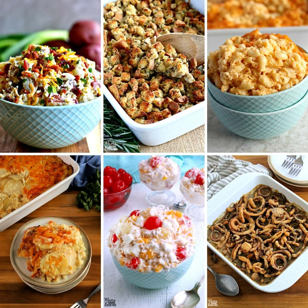 gluten-free Easter side dish recipes photo collage