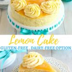 gluten-free lemon cake Pinterest pin A