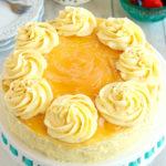 gluten-free lemon cake with lemon buttercream frosting