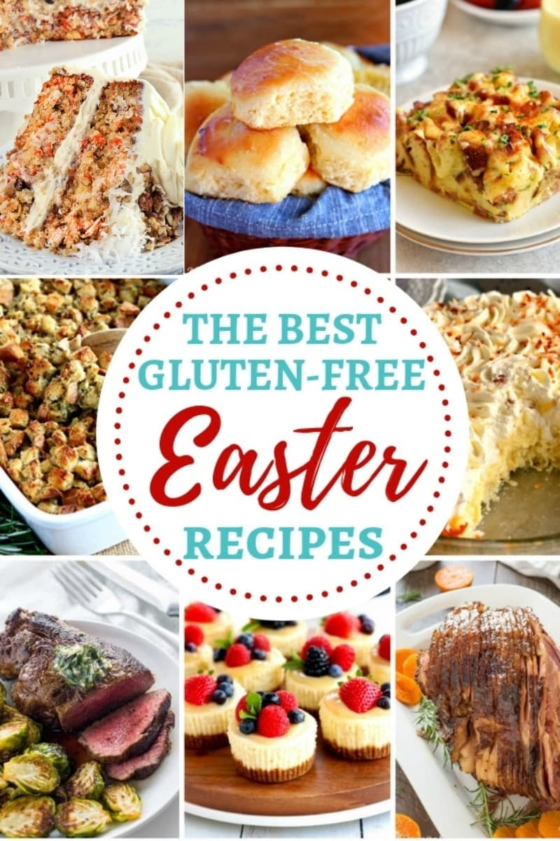 photo collage of gluten-free Easter recipes