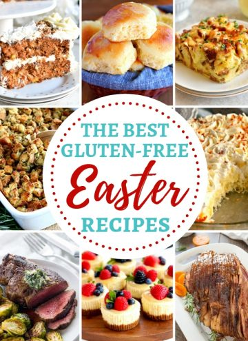 the best gluten-free Easter recipes round-up photo collage