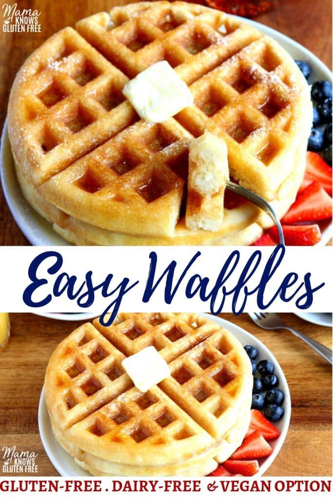 gluten-free waffles Pinterest pin 2
