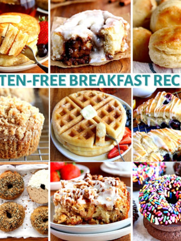 gluten-free breakfast recipes photo collage