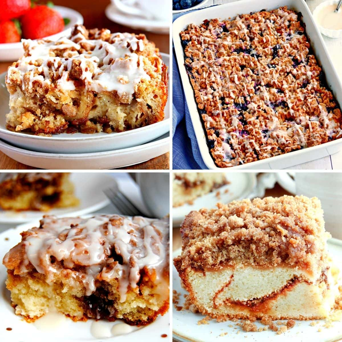 gluten-free breakfast casseroles and breakfast cakes recipes photo collage