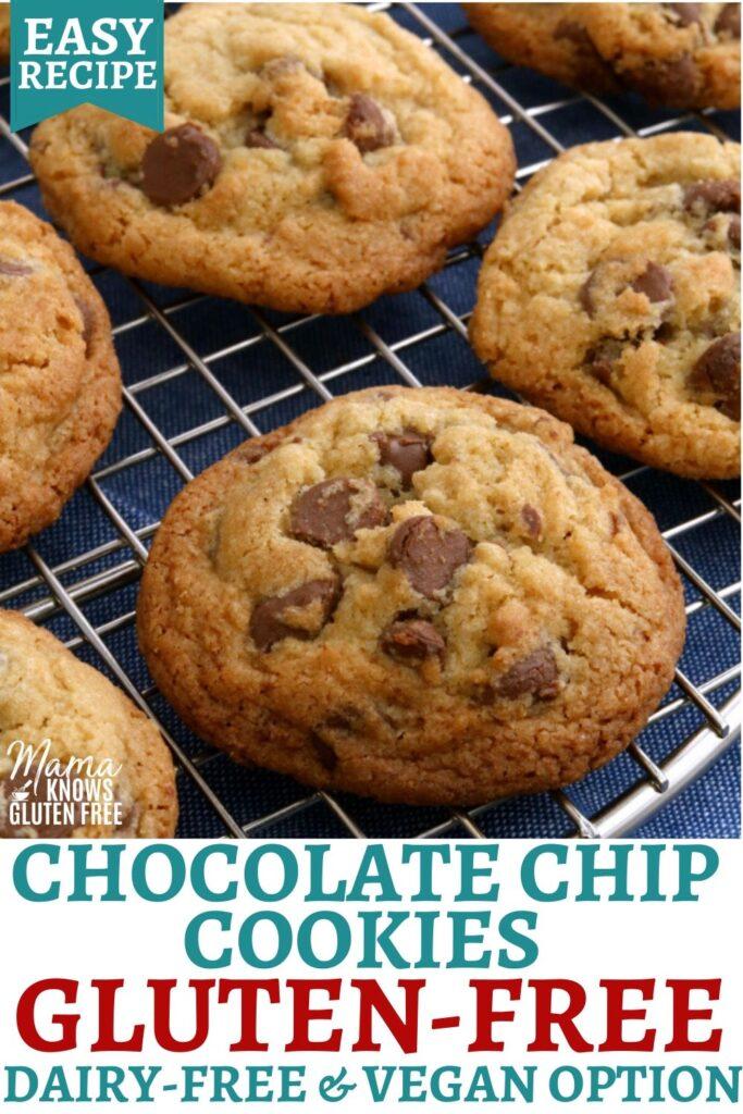 gluten-free chocolate chip cookies Pinterest pin 1A