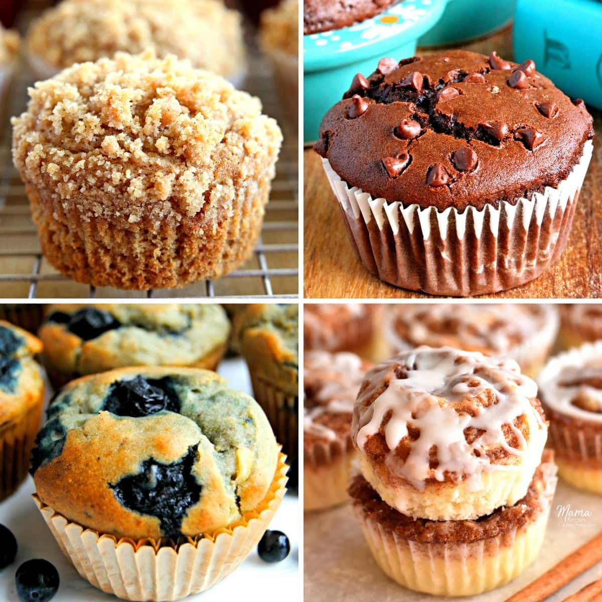 gluten-free muffin recipes photo collage