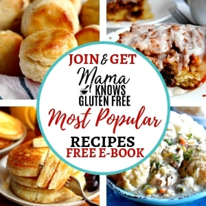 newsletter signup for free recipe e-book