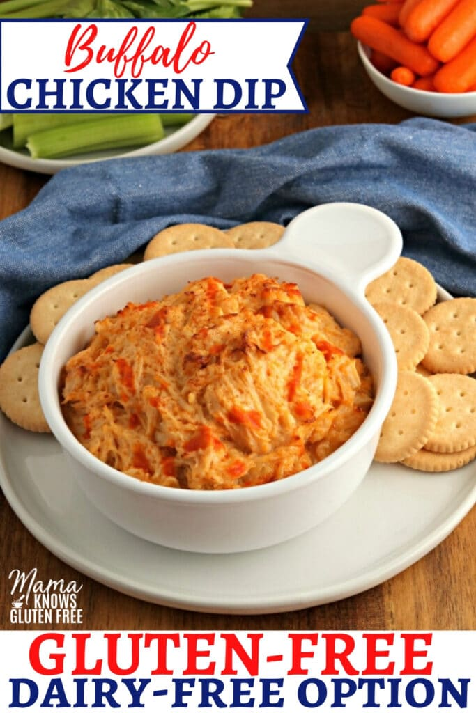 gluten-free buffalo chicken dip Pinterest pin 2