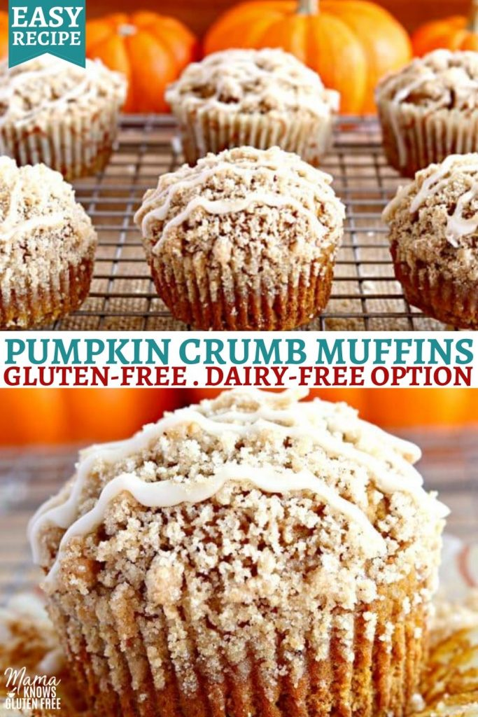 gluten-free pumpkin muffins Pinterest pin 2