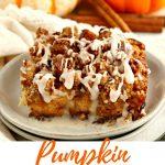 gluten-free pumpkin french toast casserole Pinterest pin B