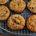 gluten-free oatmeal cookies on a baking rack