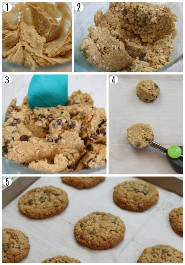 recipes steps for gluten-free oatmeal cookies
