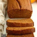 gluten-free pumpkin bread Pinterest pin 1B