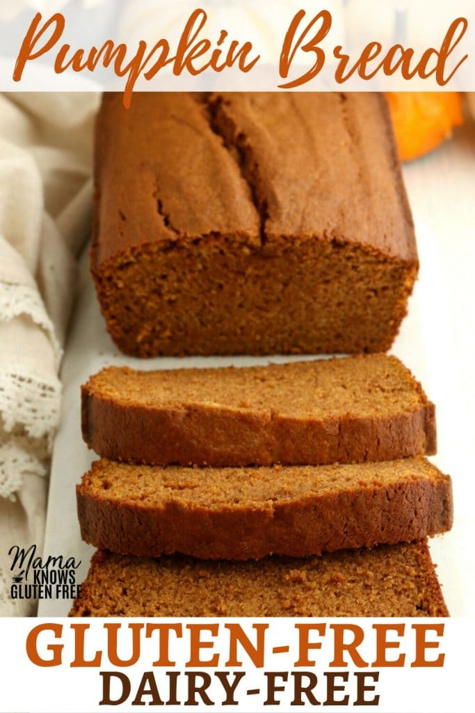 gluten-free pumpkin bread Pinterest pin 1B