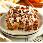 serving of gluten-free pumpkin french toast casserole