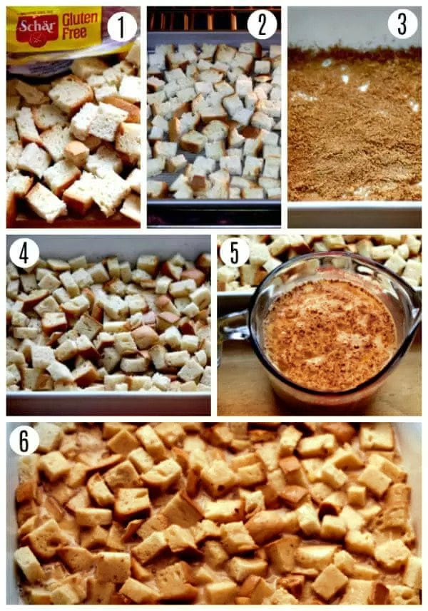 gluten-free pumpkin french toast casserole recipe steps 1-6