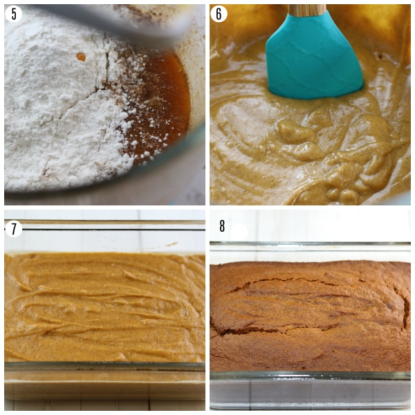 gluten-free pumpkin bread recipe steps 5-8