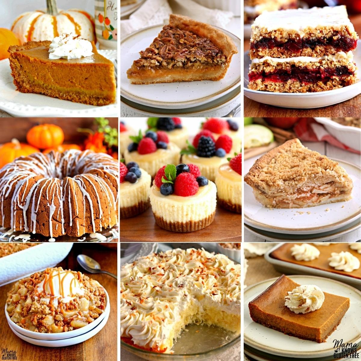 gluten-free Thanksgiving desserts recipes photo college