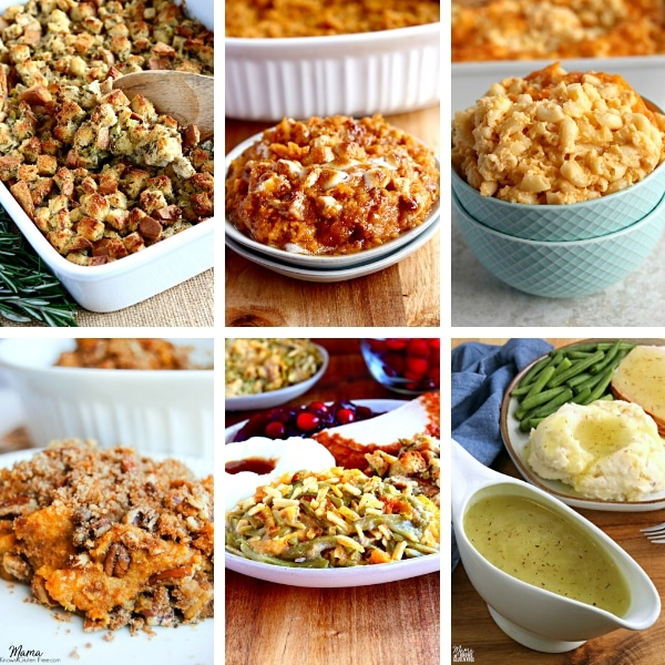 gluten-free Thanksgiving side dishes photo collage