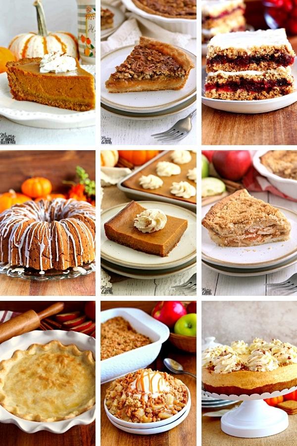 photo collage of gluten-free desserts