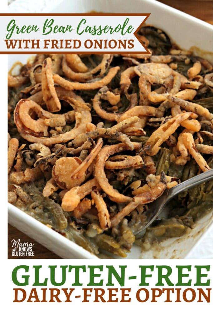 gluten-free green bean casserole Pinterest pin