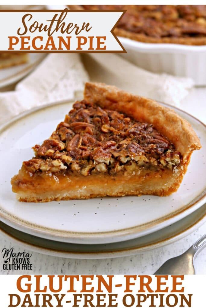 gluten-free pecan pie Pinterest pin 2