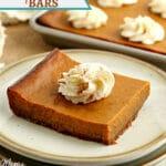 gluten-free pumpkin pie bars Pinterest pin 2