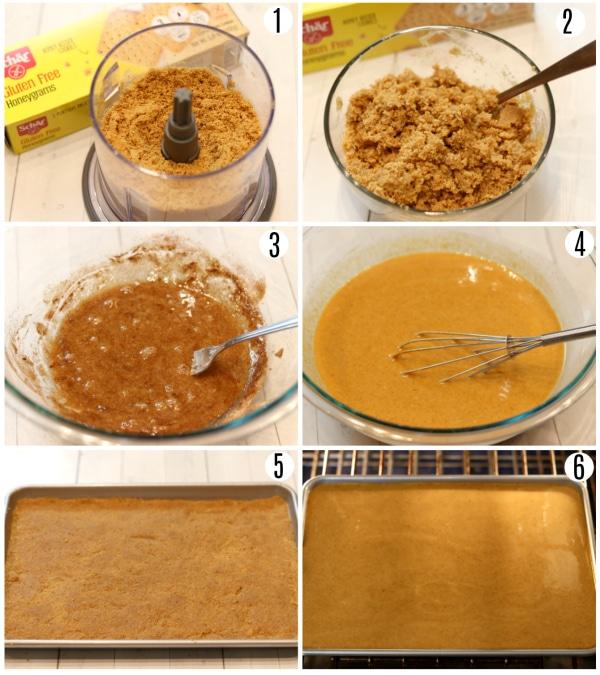 gluten-free pumpkin pie bars recipe steps 1-6
