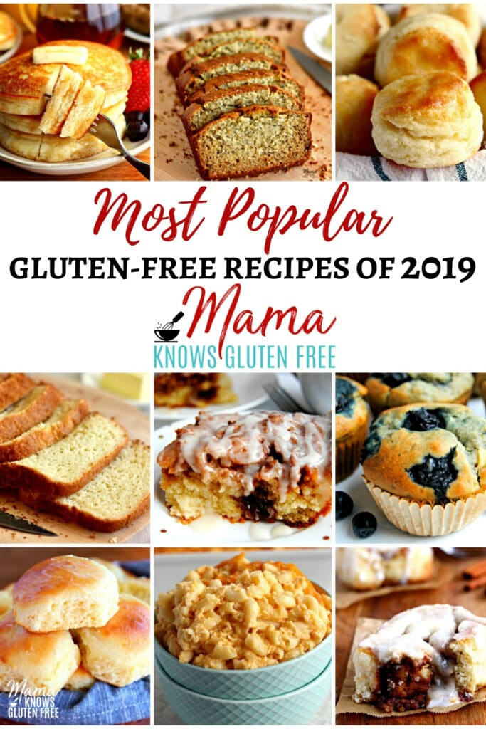 a collection of 10 of the most popular gluten-free recipes of 2019 Pinterest pin
