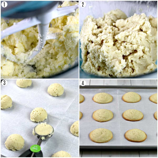gluten-free sugar cookie recipe steps photos collage