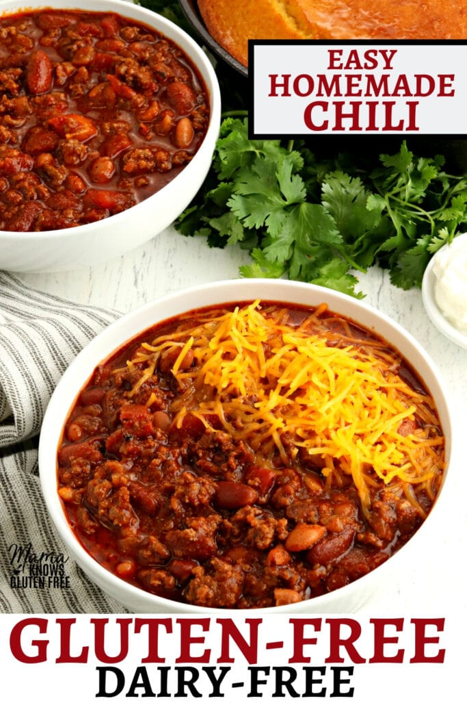 gluten-free chili Pinterest pin