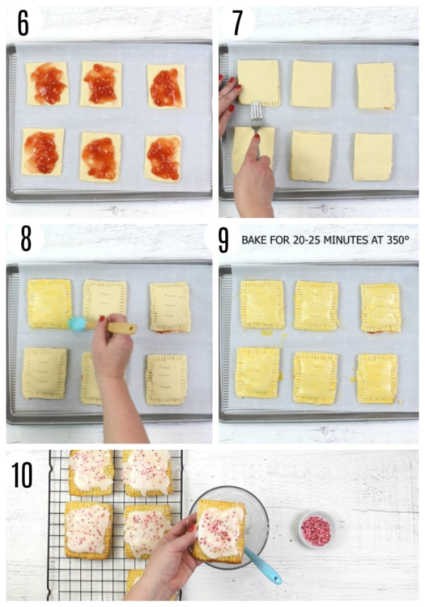 gluten-free pop tarts recipe steps 6-10 photo collage