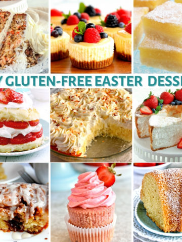 gluten-free Easter dessert recipes photo collage