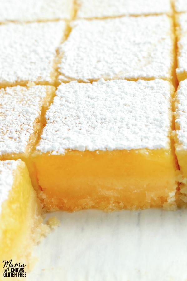 pan of gluten-free lemon bars