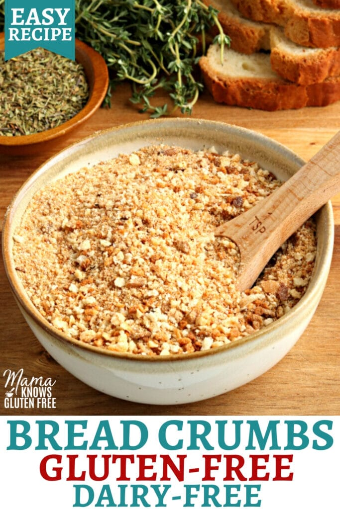 gluten-free bread crumbs Pinterest pin 1