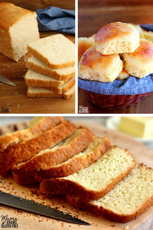 gluten-free bread recipe collage