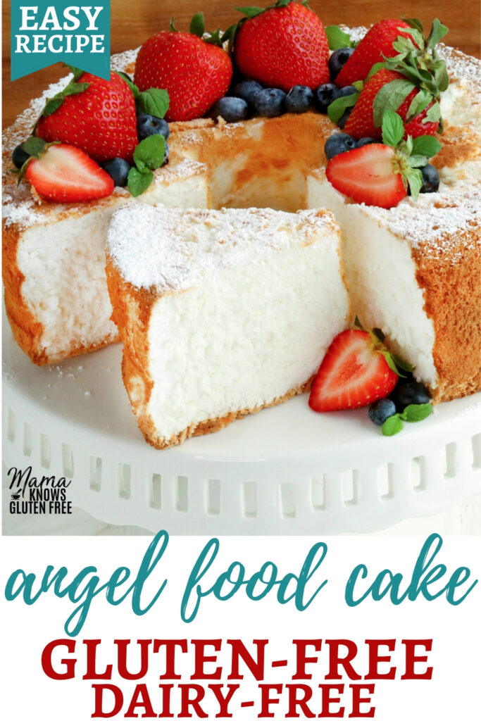 gluten-free angel food cake Pinterest pin 1