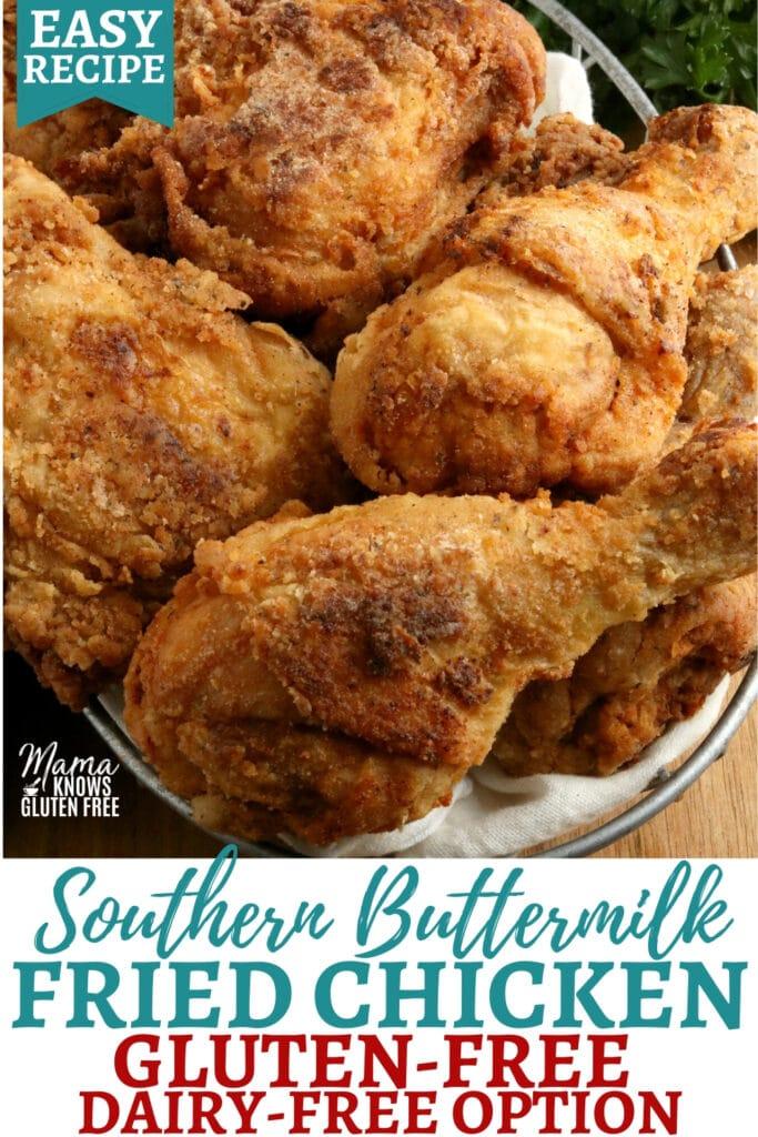 gluten-free fried chicken Pinterest pin 1