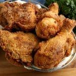 gluten-free fried chicken in a silver basket