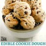gluten-free cookie dough Pinterest pin 1