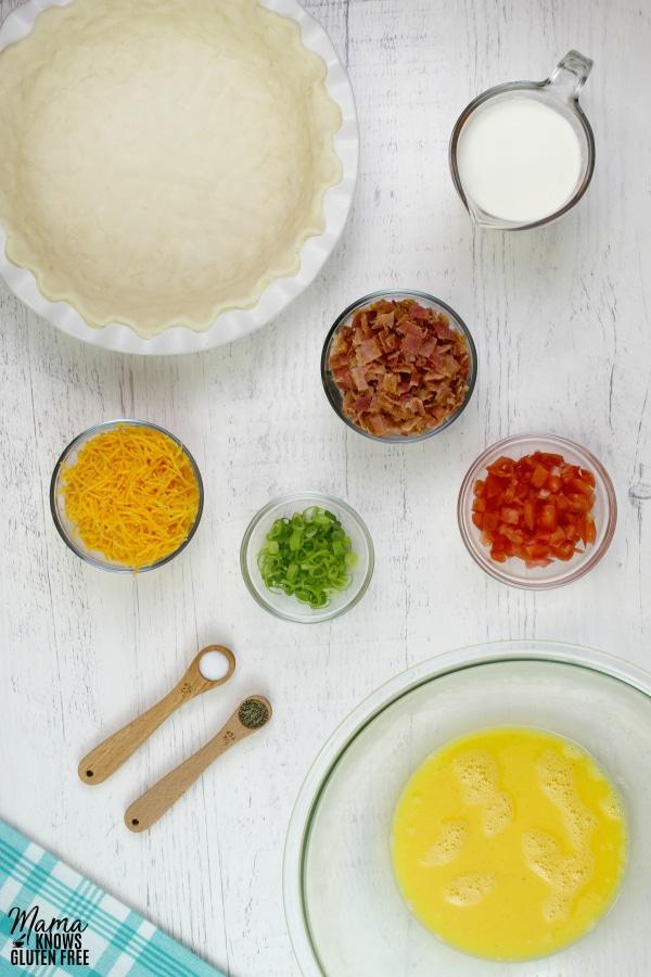 gluten-free quiche ingredients