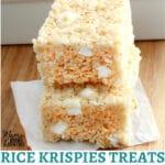 gluten-free rice krispies treats Pinterest pin