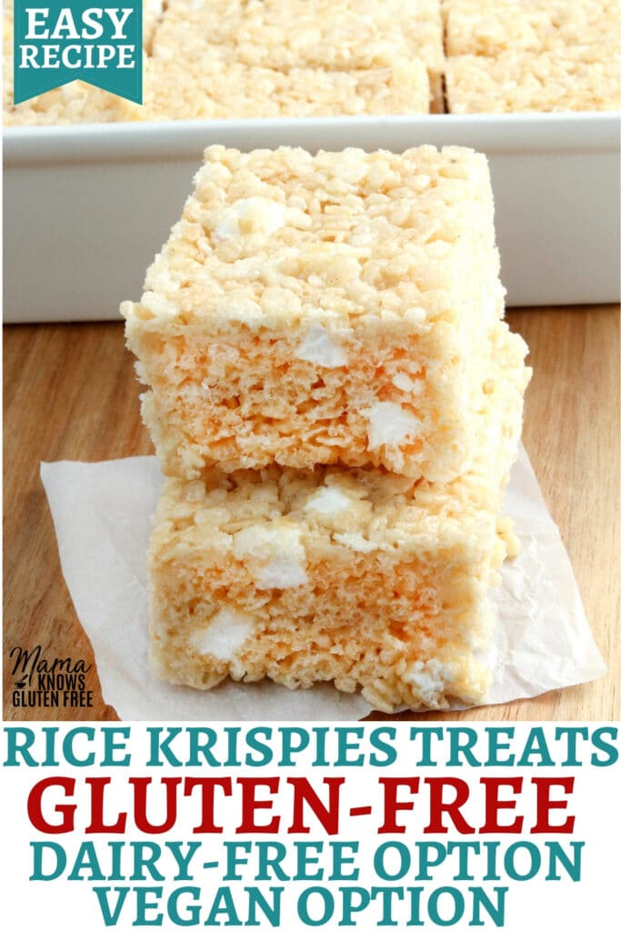 gluten-free rice krispies treats Pinterest pin