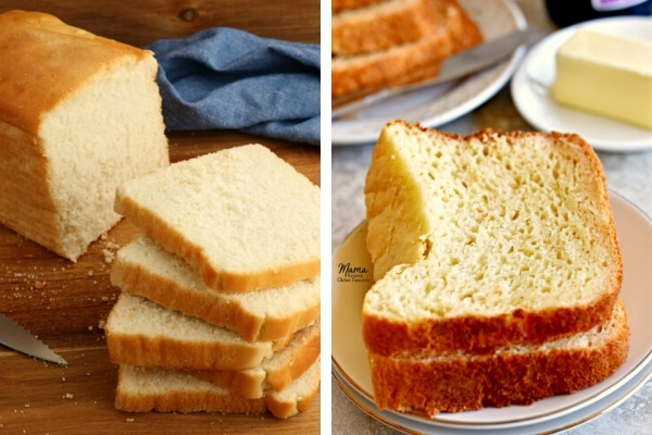 gluten-free bread recipes sliced bread photo collage