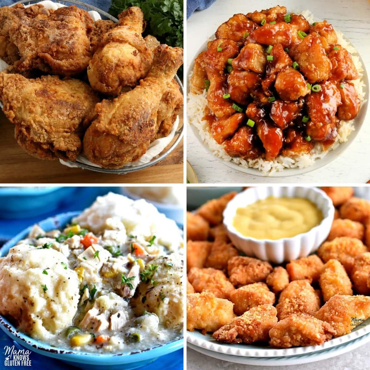gluten-free chicken dinner recipes photo collage 2